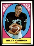 1967 Topps #109  Billy Cannon  Front Thumbnail