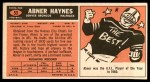 1965 Topps #53  Abner Haynes  Back Thumbnail