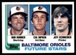 1982 Topps #21   -  Cal Ripken Jr / Bob Bonner / Jeff Schneider Orioles Front Thumbnail