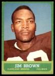 1963 Topps #14  Jim Brown  Front Thumbnail
