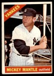 1966 Topps #50  Mickey Mantle  Front Thumbnail
