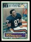 1983 Topps #34  Emery Moorehead  Front Thumbnail