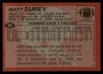 1983 Topps #39  Matt Suhey  Back Thumbnail