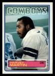 1983 Topps #50  Harvey Martin  Front Thumbnail