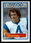 1983 Topps #93  Mike Lansford  Front Thumbnail