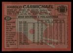 1983 Topps #137  Harold Carmichael  Back Thumbnail