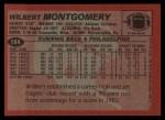 1983 Topps #144  Wilbert Montgomery  Back Thumbnail