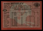 1983 Topps #194  Mark Moseley  Back Thumbnail