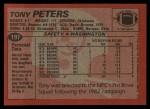 1983 Topps #197  Tony Peters  Back Thumbnail