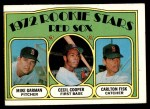 1972 Topps #79   -  Carlton Fisk / Cecil Cooper / Mike Garman Red Sox Rookies Front Thumbnail