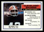 1983 Topps #244   Browns Leaders Front Thumbnail