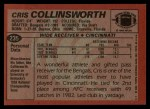 1983 Topps #235  Cris Collinsworth  Back Thumbnail