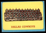 1963 Topps #84   Cowboys Team Front Thumbnail