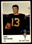 1961 Fleer #215  Don Maynard  Front Thumbnail