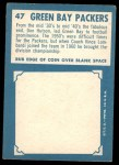 1961 Topps #47   Packers Team Back Thumbnail