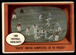 1961 Topps #57   -  Johnny Unitas 1960 Football Highlights Front Thumbnail