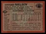 1983 Topps #279  Gifford Nielsen  Back Thumbnail