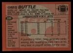 1983 Topps #339  Greg Buttle  Back Thumbnail