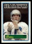 1983 Topps #393  Jim Zorn  Front Thumbnail