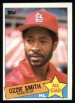 1985 Topps #715  Ozzie Smith  Front Thumbnail