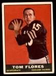 1961 Topps #186  Tom Flores  Front Thumbnail