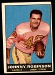 1961 Topps #139  Johnny Robinson  Front Thumbnail