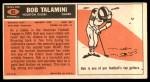 1965 Topps #85  Bob Talamini  Back Thumbnail