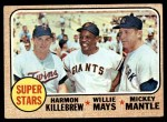 1968 Topps #490   -  Mickey Mantle / Willie Mays / Harmon Killebrew Super Stars Front Thumbnail