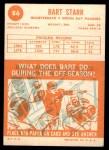 1963 Topps #86  Bart Starr  Back Thumbnail