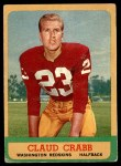 1963 Topps #168  Claud Crabb  Front Thumbnail