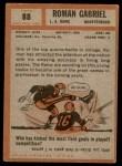 1962 Topps #88  Roman Gabriel  Back Thumbnail