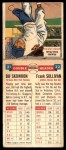 1955 Topps Double Header #21 #22 Bill Skowron / Frank Sullivan  Back Thumbnail