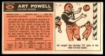 1965 Topps #146  Art Powell  Back Thumbnail