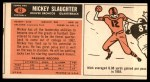 1965 Topps #63  Mickey Slaughter  Back Thumbnail