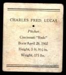 1933 Tattoo Orbit R305 #42  Red Lucas   Back Thumbnail
