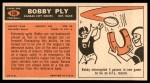 1965 Topps #108  Bobby Ply  Back Thumbnail