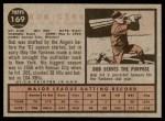1962 Topps #169 GRN Bob Cerv  Back Thumbnail