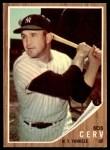 1962 Topps #169 GRN Bob Cerv  Front Thumbnail