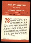 1963 Fleer #78  Jim Stinnette  Back Thumbnail