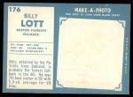 1961 Topps #176  Billy Lott  Back Thumbnail