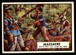 1962 Topps Civil War News #27   Massacre Front Thumbnail