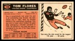 1965 Topps #139  Tom Flores  Back Thumbnail