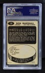 1965 Topps #29  Don Marshall  Back Thumbnail
