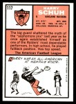 1966 Topps #117  Harry Schuh  Back Thumbnail