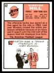 1966 Topps #92  Winston Hill  Back Thumbnail
