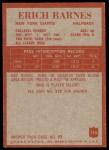 1965 Philadelphia #114  Erich Barnes   Back Thumbnail
