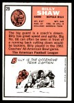 1966 Topps #29  Billy Shaw  Back Thumbnail