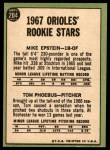 1967 Topps #204   -  Mike Epstein / Tom Phoebus Orioles Rookies Back Thumbnail