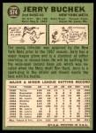 1967 Topps #574  Jerry Buchek  Back Thumbnail