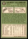 1967 Topps #561  Sandy Alomar  Back Thumbnail